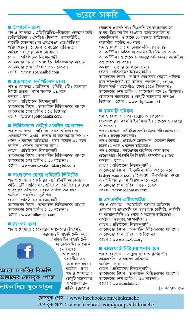 Kalerkantho Weekly Jobs Circular